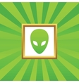 Alien picture icon vector image vector image
