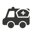 ambulance with medical icon vector image vector image