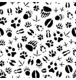 animal and bird track seamless pattern background vector image vector image