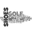 are golf shoes essential to play golf text word vector image vector image