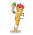 artist baseball bat character cartoon vector image vector image