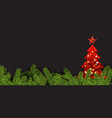 background with red abstract christmas tree vector image