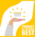 banner for review on the best cosmetic product of vector image vector image