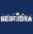 best idea innovative concept cartoon business vector image vector image