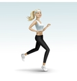 Blonde Woman Girl Female Running Jogging vector image vector image