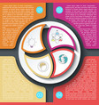 business brochure infographic with circle on vector image vector image