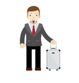 Businessman or manager with a suitcase vector image vector image