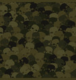 camouflage olive and khaki scull silhouettes vector image vector image
