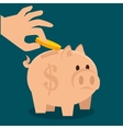 cartoon piggy money earnings design isolated vector image vector image