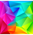 Colorful geometric shapes pattern vector image vector image
