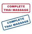 Complete Thai Massage Rubber Stamps vector image vector image