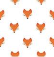 cute fox head seamless pattern vector image vector image