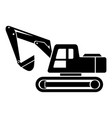 digging machine icon simple style vector image vector image