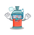 diving aerosol spray can character cartoon vector image vector image