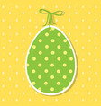easter paper decoration in the form of egg green vector image vector image