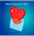 envelope and heart vector image vector image