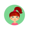 Female face avatar profile head vector image vector image