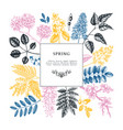 floral invitation rsvp greeting card design vector image