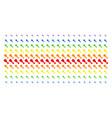 fried chicken leg shape halftone spectrum pattern vector image