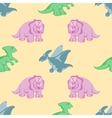 funny dinosaurs seamles background vector image vector image