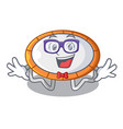 geek trampoline character room on place isolated vector image