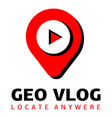 geo vlog logo flat style vector image vector image