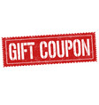 gift coupon sign or stamp vector image vector image