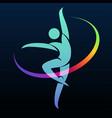 gymnastic symbol vector image vector image