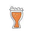 hand drawn beer vector image vector image