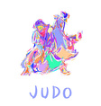Hand Drawn Judo Throw Isolated vector image