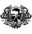 human skull decorative vector image vector image