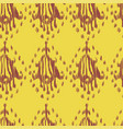 ikat seamless bohemian ethnic pink and yellow vector image vector image