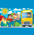 image with school bus topic 6 vector image