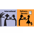 int delivery vector image