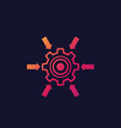 integration system icon with cogwheel vector image vector image