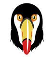 isolated cute toucan avatar vector image