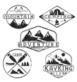 kayaking camping climbing and adventure vintage