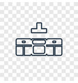 kitchen furniture concept linear icon isolated on vector image