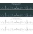 kuala lumpur single line skyline banner vector image