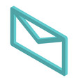 mail sign icon isometric style vector image vector image