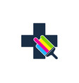 medical paint logo icon design vector image