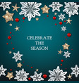 merry christmas blue holiday vector image vector image