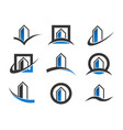 modern building icons vector image vector image