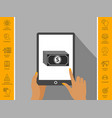 money banknotes stack with dollar icon vector image