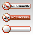 No smoking prohibition sign banner collection vector image