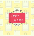 only today emblem and shopping bags vector image vector image