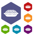 pie icons set vector image vector image