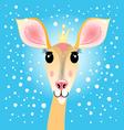 portrait of a deer vector image vector image