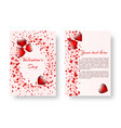 romantic notebook with red hearts vector image vector image