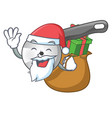 santa with gift pizza cutter knife isolated on vector image vector image